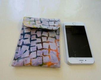 Lavender Geometric Batik Cell Phone/iPhone Case