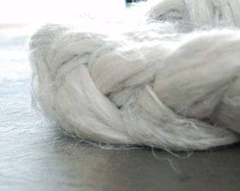 ICE BLUE - FLAX/Linen fiber ~Colours by Nature ~plant dyed - perfect for vegan needle felting