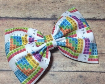 SUMMER SALE Chemistry Periodic Table Fabric Bow 5.5 Inches