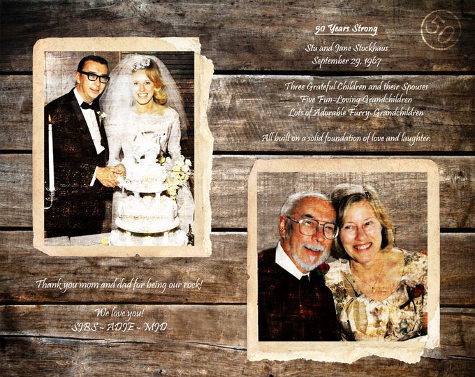 Parents 50th Anniversary Gift 50 Years Of Marriage Golden Anniversary Gift For Parents Parents Anniversary Gifts Wedding Anniversary  16x20