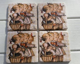 Picnic Time Stone Coaster Set of 4 Tea Coffee Beer Coasters