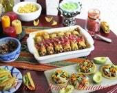 1:12 Beef Enchiladas w Tomatillo Salsa II - Mexican Cuisine by IGMA Artisan Robin Brady-Boxwell