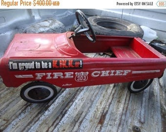 Back Open Sale Vintage 1950's AMF Pedal Car 503 Fire Chief Dept, collectable