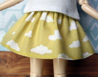 Clouds Skirt for Blythe & Pullip