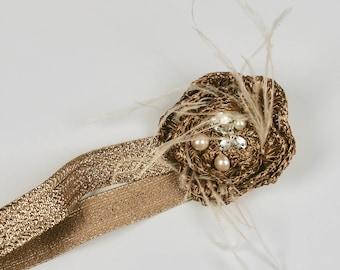 Bridal Accessories,Rhinestone Headband,Flower Headband,Crystal Headband, Chanel Style Accessories,Jeweled Headband