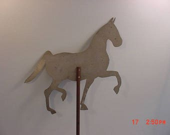 Vintage Metal Horse Weather Vane Topper  17 - 873