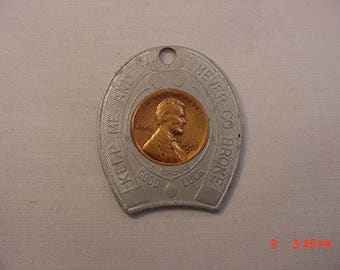 Vintage 1957 Good Luck Penny State Of Delaware  18 - 78
