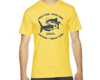 Gold Fish Blue Fish Catfish Throw Fish // #catfishjake Shirt // Hockey Catfish Thrower Shirt