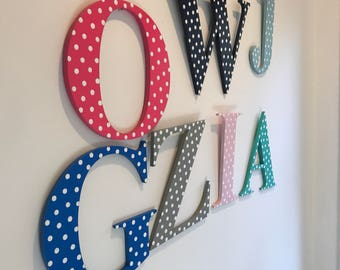Wooden letter Wall letter IN STOCK and ready to ship Hand painted wooden letter Times New Roman letter