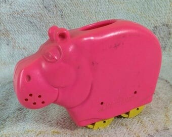 SUMMER SALE 1977 Fisher Price Henry Hippo Rare Mail Order Pencil Holder Quaker