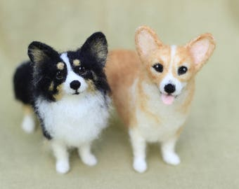 Made to order custom needle felted dog, memorial, portrait, Corgi or your dog's breed