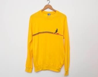 sweater sport vintage deadstock yellow