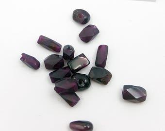 Faceted Garnet Beads, Garnet Beads, Natural Gemstone Beads, Faceted Garnet, Beads for Jewelry Making, Faceted Oblong Beads, Garnet