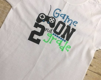 Video Game Back to School Boy's First Day of School Shirt