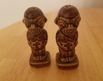 Vintage Tiki Salt and Pepper Shakers