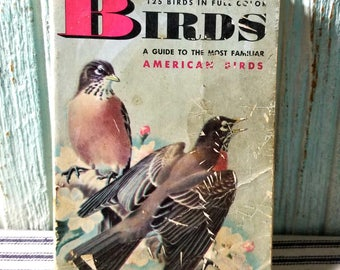Vintage Childrens Golden Book Nature Guide BIRDS 1956, Guide to Familiar American Birds, Vintage Ephemera