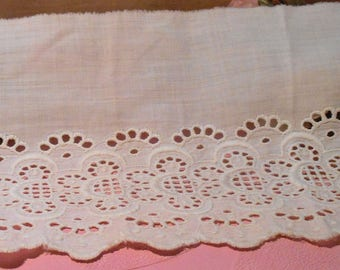 Antique Lace Trim White Work  Edwardian Dress
