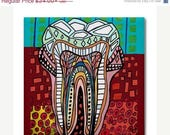 50% Off Storewide- Tooth Dental Anatomy Art Tile Ceramic Coaster Medical Science Dentist Print on Tile (HG857)