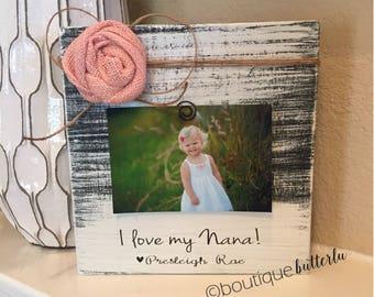 nana gift personalized nana picture frame christmas gift for nana 4x6 picture frame from grandchild i - Nana Frame