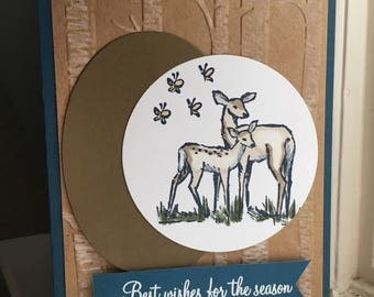 Best Wishes for the Season Deer Card