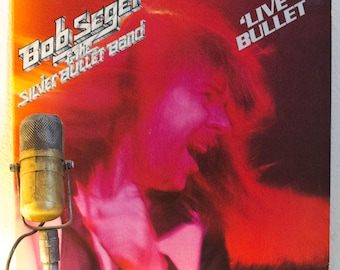 "ON SALE Bob Seger Vintage Vinyl 2LP Live Album 1970s Classic Rock Detroit Soul ""Live Bullet""(1976 Capitol w/""Turn The Page"" & ""Katmandu"")"