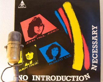 "ON SALE Jimmy Page / John Paul Jones(Led Zeppelin) / Albert Lee, Vintage Record Blues Rock LP  ""No Introduction Necessary""(Import,1984 Thund"