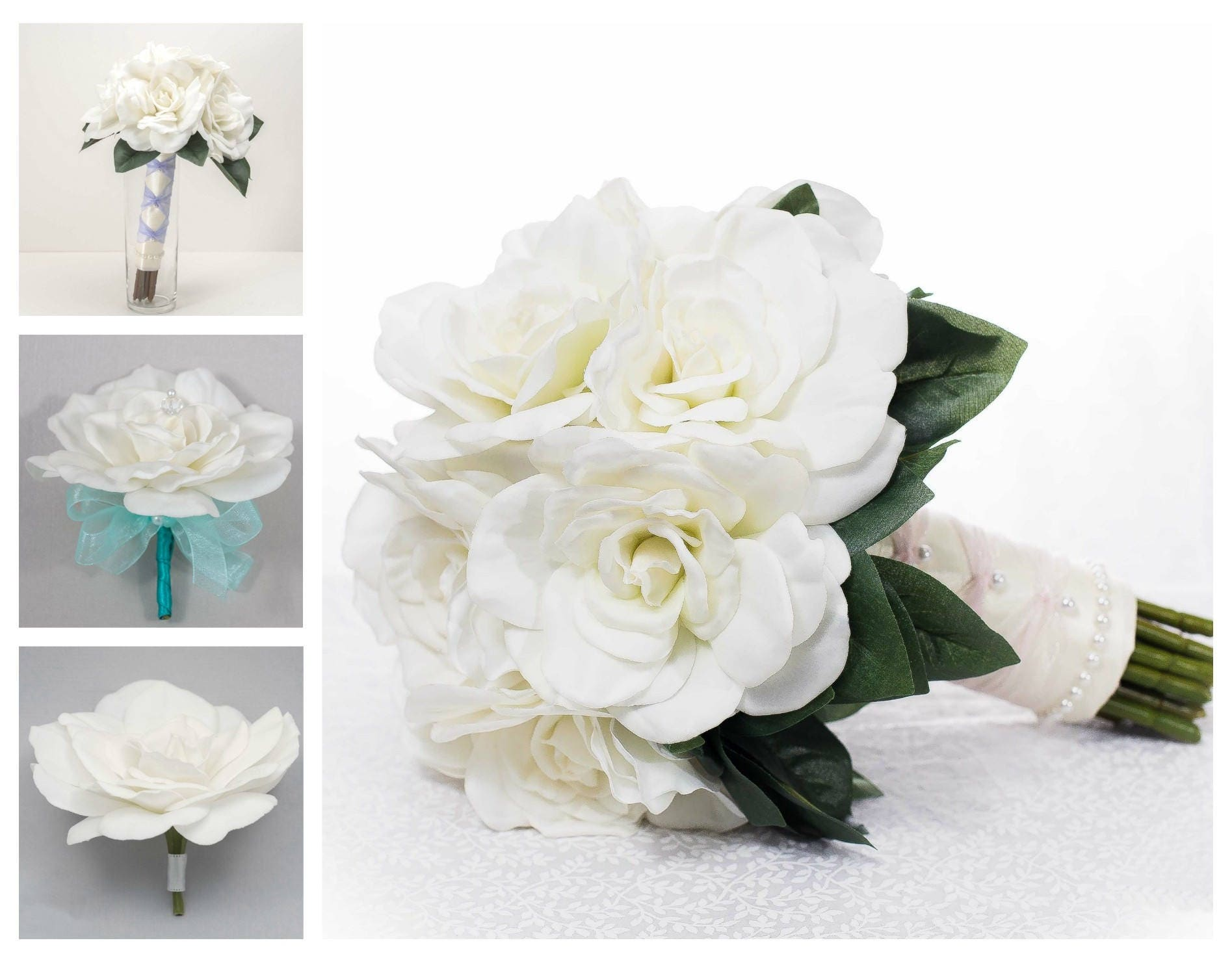 Gardenia Wedding Flower Package, 10 Piece