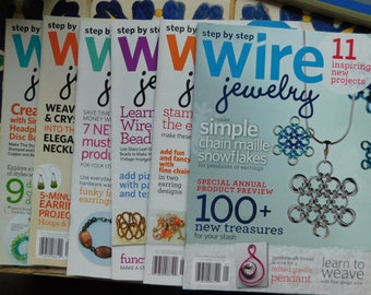 2011 Step by Step Wire Jewelry Magazine Full Year 2011 Collection Wire Wrapping Magazines Tutorials Wire Wrap 6 Issues work instructions