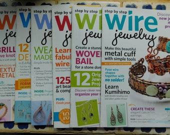 2014 Step by Step Wire Jewelry Magazine Full Year 2014 Collection Wire Wrapping Magazines Tutorials Wire Wrap 6 Issues work instructions