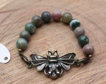 Bee Gemstone Bracelet