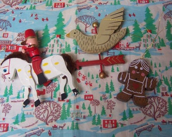 wooden fun charming vintage ornaments