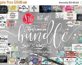 80% OFF Sale 96 Percent Off Sale, Bundle of Fonts and Graphics, modern calligraphy fonts, wedding fonts, Brush fonts, script fonts, Watercol
