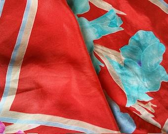 Red Summer Scarf Leonard silk