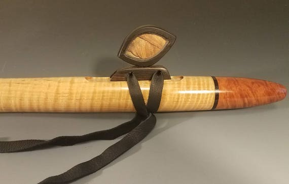 Native American Style Flute, Curly Maple & Madrone Burl, mid F