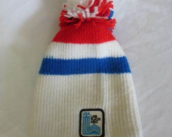 USA Lake Placid Olympic winter games 1980 Vintage red white and blue Stocking Cap
