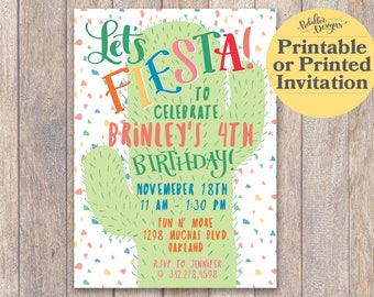 Fiesta Birthday Invitation, Fiesta Invitation Mexican Birthday Party, Printable Fiesta Invitation Birthday Party, Mexican Birthday Invite