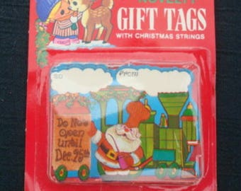 Vintage Christmas Gift Tags String Tags Do Not Open Until Dec. 25th Unused Tags Vintage Christmas Vintage Christmas Gift Tags Lot A