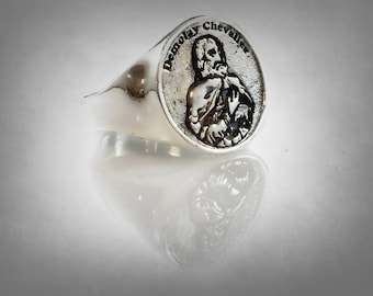masonic order of demolay degree of chevalier Sterling Silver 925 Ring by ezi zino