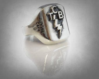 New Elvis Presley Tcb Ring Solid Sterling Silver 925 All Size Available