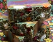 Fairy Garden - Handmade bar soap, Bar Soaps, Handmade soaps, Christmas Stocking Stuffers, Stocking Stuffer, Fairy Garden Bar Soap