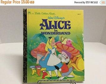 Sale Vintage Little Golden Book Alice in Wonderland Book 1991 Walt Disney