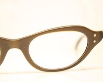 Unused Brown Vintage Cat eye glasses cat eye frames NOS