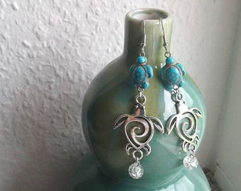 Moana Inspired TURTLE Earrings - Disney's Moana, Hawaiian green sea turtle Earrings