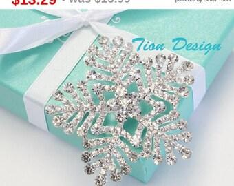 Summer Sale Snowflake Brooch, Wedding Brooch, Bridal Brooch Crystal  BP3077CN-SC with a FREE Gift Box