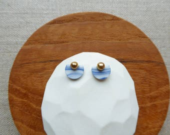 Semicircle Stud Earrings