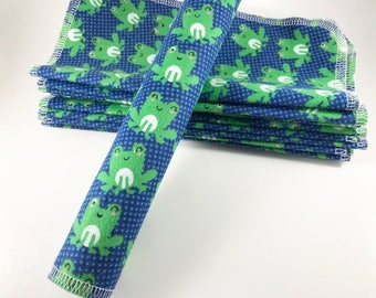 Flannel Baby Wipes, Cloth Wipes, Reusable Baby Wipes, Gender Neutral Wipes, Single Layer Wipes