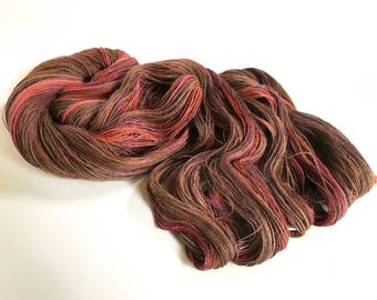 Isadora. Alpaca Lace Yarn. Berries And Seeds