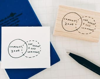 The Unknown Diagram Stamp - STEM / Motivational Rubber Stamp - Teachers Grading Stationary Stamp