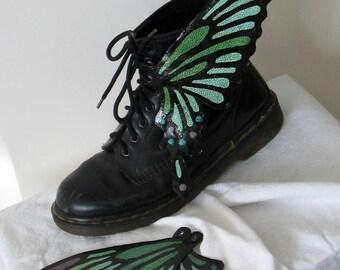 ooak HANDPAINTED butterfly boot wings