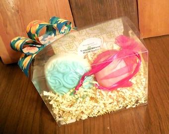 Bath Spa Box Gift Set, Lemon, Yellow, soap, sugar scrub, bath salts, lemon grass, bath bomb